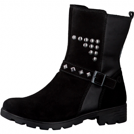 Ricosta RIVA Waterproof Leather Ankle Boots (Black)